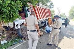 truck accident on una hoshiarpur nh