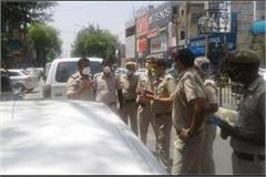 crowd on the roads police in action challans of 25 vehicles in the city