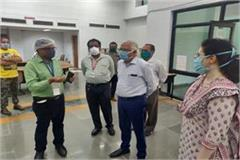 the commissioner inspected the covid testing lab