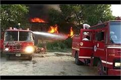 fierce fire in paint factory