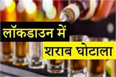 haryana police did liquor scam in lockdown