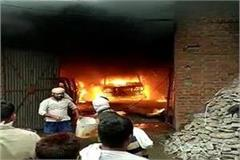 3 cars with luxury fortuner burnt in fire in car garage of textile merchant
