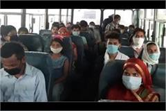 government sends up over 150 migrant laborers in 5 buses