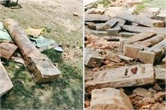 ayodhya remains of temple found during leveling in ramjanmabhoomi