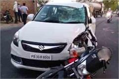 muktsar husband and wife died in road accident