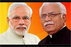 in pm modi meeting chief minister manohar lal favored haryana