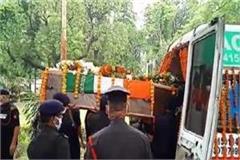lac dispute martyr deepak kumar s body found in prayagraj left for mp