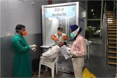employees wearing samples of ppe kit without passengers from foreign countries