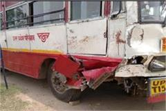 a horrific road accident in kannauj two bike riders died