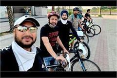 hoshiarpur cyclists made people aware on world cycle day