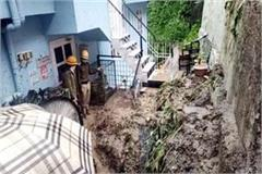 landslide near chhota shimla debris enters house and petrol pump