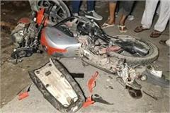 high speed truck killed 4 youths on 2 bikes 1 died on the spot