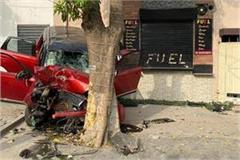 corporation officer son overspeed car collides with tree