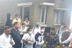 congress laid siege to raj bhavan in shimla