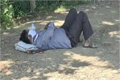 corona patient lying on the road for 3 hours in bhopal