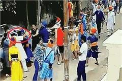 patiala attackers beat up the people of the area