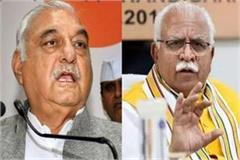 hooda responded to the meeting of khattar shah