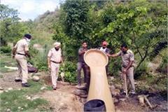 10 thousand liters of liquor including liquor furnaces destroyed