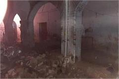 shattered roof of police line falls 1 dead