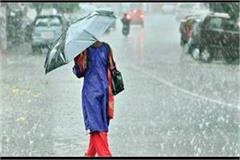 weather report possibility of rain in upcoming days