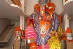 due to corona this time the big ganapati temple will be seen