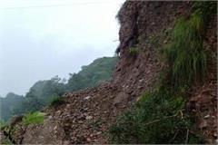 landslide jam on shimla matour national highway