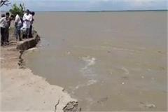 pressure on coastal dam increased due to sharp erosion of saryu