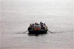 boat overturned in river ganges in saran