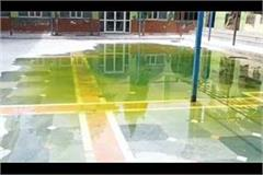 negligence sewage filled with sewer in school