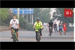 good news for cyclist on the highway jalandhar traffic police took u turn