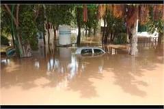 rising water level in sukhna lake crossed danger mark