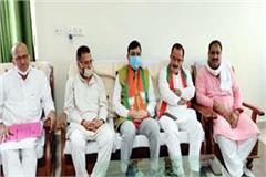 press conference of bjp president suresh kashyap