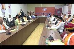 bjp state president holds meeting of newly appointed district presidents