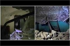 explosion in illegal firecrackers two storey house collapses