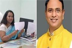 bjp mla devmani dwivedi demands dm c indumati s release from cm yogi