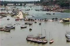 water level of both the ganges and yamuna rivers is increasing