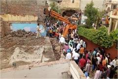 4 people buried in debris due to collapse of 2 storey building in derabassi