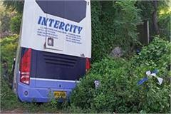 a bus full of 30 passengers fell into the ditch in indore