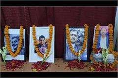 tribute paid to 4 journalists by keeping silence for 2 minutes