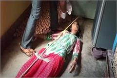 mainpuri the body of a married woman s body was found hanging on the noose