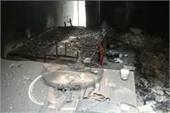 the miscreants set fire to the office after theft