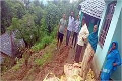 2 house in danger due to landslide