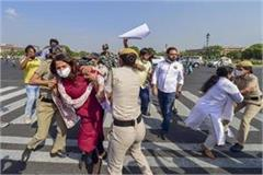 hathras rape congress demonstrations many activists detained