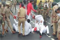 gorakhpur lathi charge on sp workers shouting slogans against the government