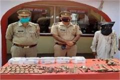 saharanpur la policía arresta una fábrica ilegal de armas y arresta a una