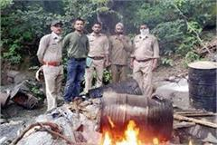 forest department destroyed liquor furnaces