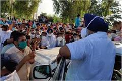 sukhbir badal visits villages
