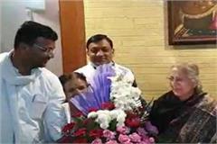 former lok sabha speaker sumitra mahajan awarded by padma bhushan