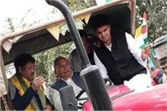 former minister arrested for taking out tractor rally in kushinagar