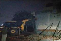 house collapsed due to rain falling in the ground falling vigilance of person